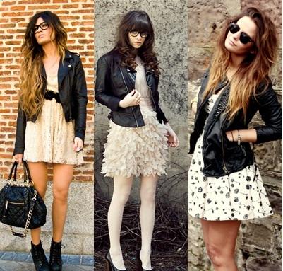 262489 jaquetas de couro femininas looks not1 Moda Plissada