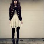 273641 vestido de renda com casaco preto 150x150 Vestidos de Renda 2012   Fotos e Tendências