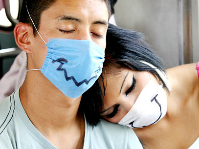 273800 mexico gripe sorriso mascaras efe 407x305 Descubram quais são as piores epidemias do mundo!