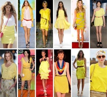 274997 moda primavera verao 2012 tendencia amarelo Primavera 2011   Peças De Roupas Que Combinam Com a Estação