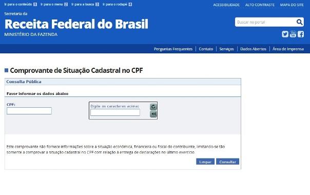 27693 Consulta CPF Receita Federal 5 Consulta CPF Receita Federal