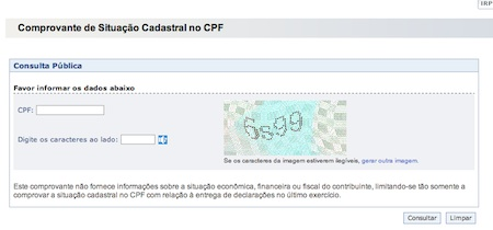 27693 sitacaocadastral cpf receita federal Consulta CPF Receita Federal