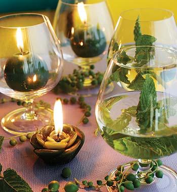 278197 decoração com água e copos Aprenda como usar água na decoração