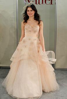 279184 vestido de noiva rosa Vestidos de Noiva 2012