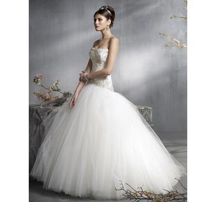 281025 vestido de tule saia rodada Vestidos de noiva com tule: tendências e modelos