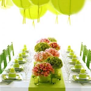 282046 decoracao de mesa verde 300x300 Decoração de festa de 18 anos