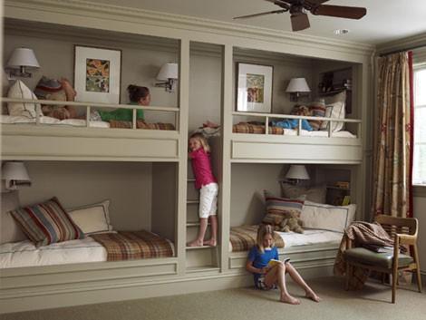 283602 beliche 4 crianças Ideias modernas para decorar quarto infantil