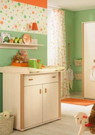 283602 cortina e papel de parede com mesma estampa Ideias modernas para decorar quarto infantil