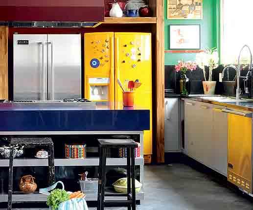 285903 geladeira amarela Maneiras criativas de mudar o visual da geladeira