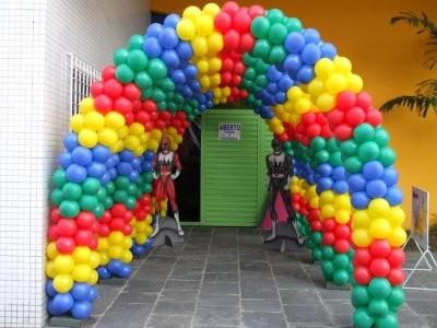 286092 Decoração com balões 2 Decoração com bexigas para festa infantil