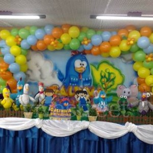 286352 galinha 3 300x300 Decoração de festa com o tema galinha pintadinha