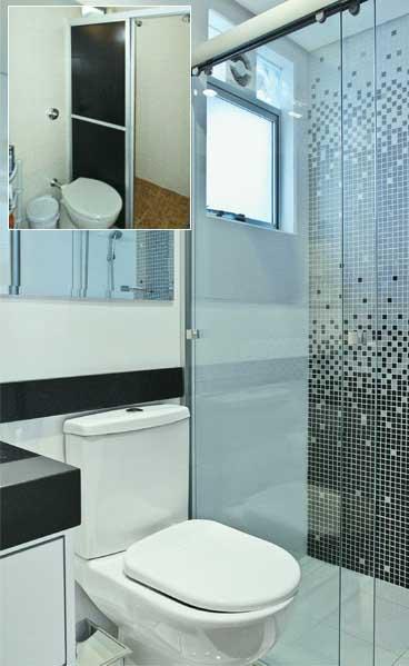 NOVIDADES DE REVESTIMENTOS PARA BANHEIROS -> Banheiro Decorado Com Pvc