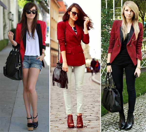287372 vermelho Usando: Blazer Feminino