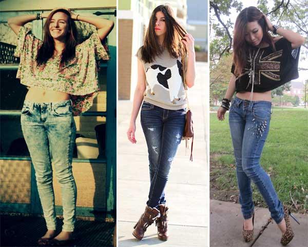 288805 cal%C3%A7a jeans Usando: Top Curto ou Cropped