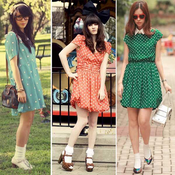 288968 vestido colorido Usando: Poá