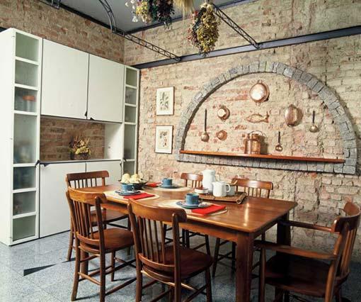 decorar cozinha rustica:289183 Sugestões de decoração interna com tijolos 2 Sugestões de