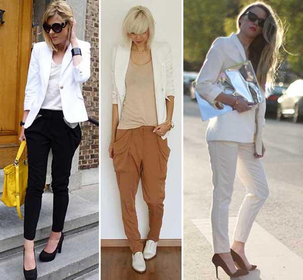 290895 blazer cal%C3%A7a Usando: Calça, Short e Blazer Brancos