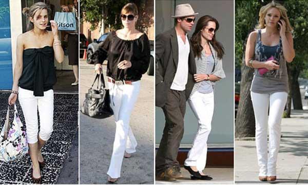 290895 famosas Usando: Calça, Short e Blazer Brancos