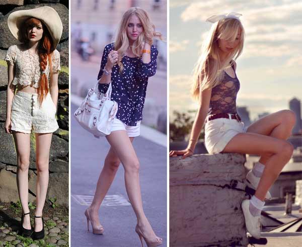 290895 short tecido Usando: Calça, Short e Blazer Brancos