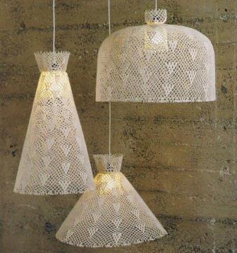 291832 crochet luminária Aprenda a usar lustres pendentes na decoração