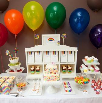 292208 festa arco íris Temas de decoração para festa de aniversário de 1 ano