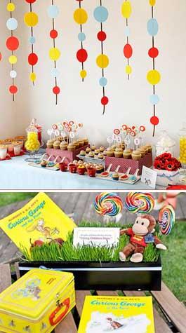 292208 tema george o curioso Temas de decoração para festa de aniversário de 1 ano