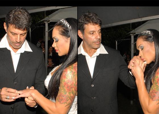 293792 alexandre Casamento de Alexandre Frota e Fabiana Rodrigues em SP