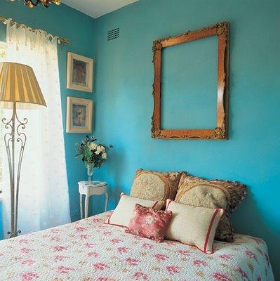 293916 quarto com parede azul Decoração com paredes coloridas: idéias, fotos