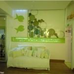 296204 parede mar peixe mar 150x150 Tema fundo do mar para decorar quarto de bebê