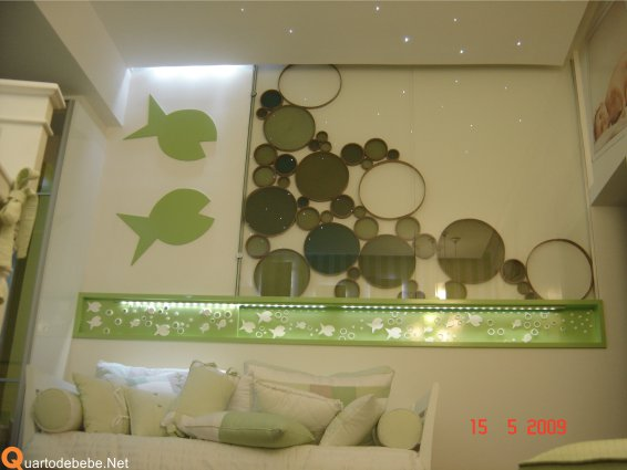 296204 quarto bebe fundo mar verde Tema fundo do mar para decorar quarto de bebê