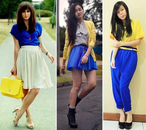 296578 amarelo azul Como usar Amarelo – Tendência para o verão