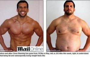 Personal trainer engorda para sentir a obesidade na pele