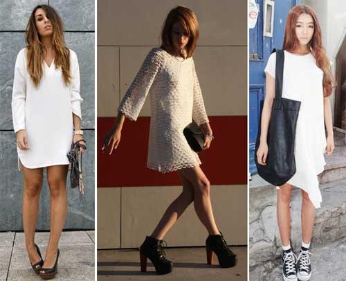 297931 vestido branco Branco e Preto   Dicas e Looks