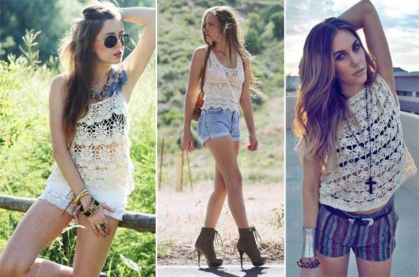 299060 blusas Crochê   Tendência para o verão 2012
