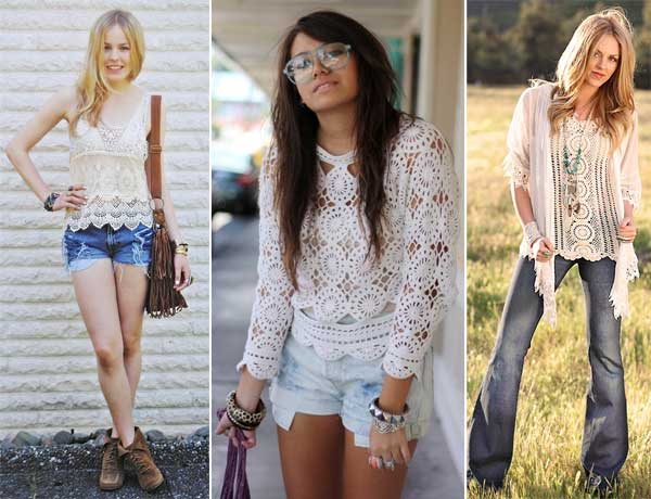 299060 blusass Crochê   Tendência para o verão 2012