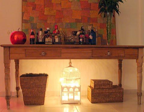 ... gaiola iluminada Aprenda a usar pisca pisca na decoração da casa