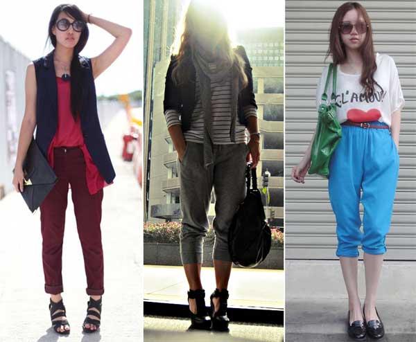 300853 colorida Calça Cropped – Tendência para o verão 2012