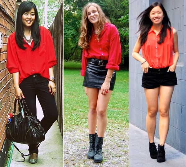 300894 camisa Como usar Vermelho   Dicas e Looks