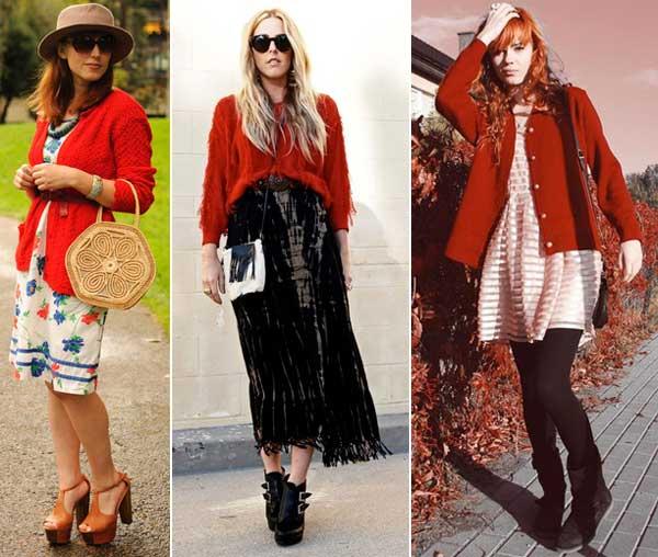 300894 casaco Como usar Vermelho   Dicas e Looks