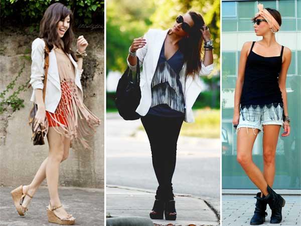 300928 blusa Franjas – Tendência para o verão 2012