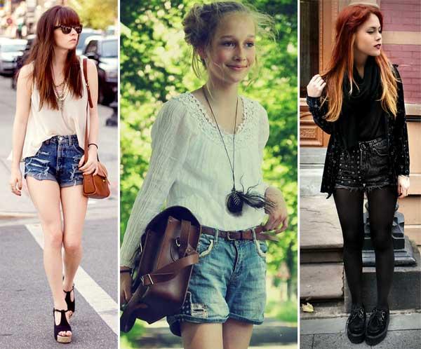 302271 jeans Short de Cintura Alta   Como Usar