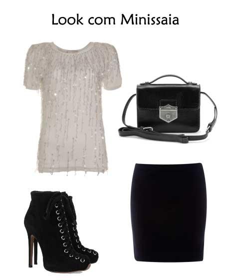 302356 look minissaia Camisetas Brancas e Sofisticadas – Dicas e Looks