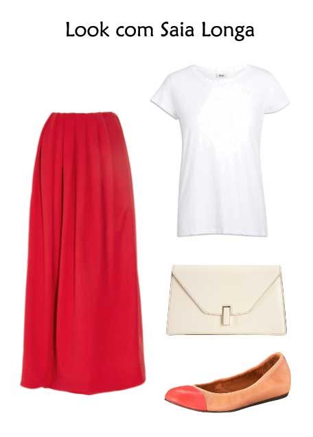 302356 look saialonga Camisetas Brancas e Sofisticadas – Dicas e Looks