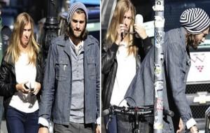 Ashton Kutcher é visto na companhia de outra loira