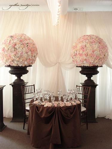 305716 Decora%C3%A7%C3%A3o de Casamento Marrom e Rosa 1 Decoração de casamento rosa e marrom