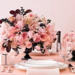 305716 boque de rosas cor de rosa com detalhes em marrom 150x150 Decoração de casamento rosa e marrom