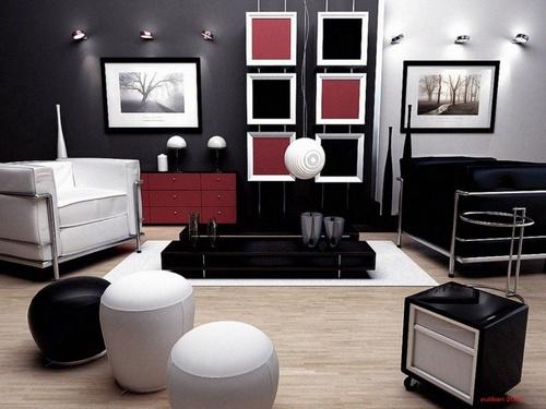 306032 uma decora%C3%A7%C3%A3o especial e harmoniosa Preto e branco na decoração da casa