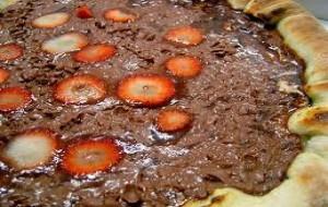 Receita de pizza de chocolate