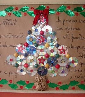 306428 árvore de cds Enfeites de Natal: aprenda a confeccionar
