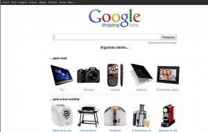 Site do Google Shopping Brasil